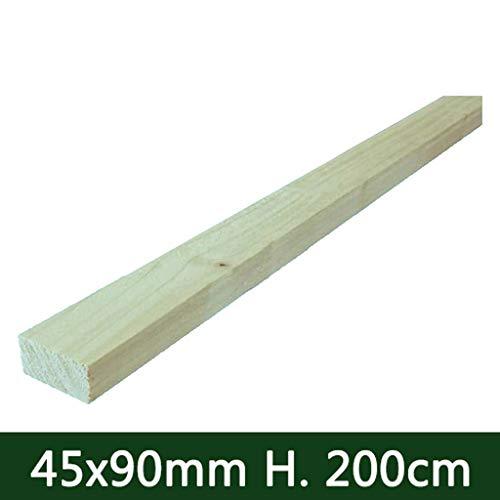 Tavole in legno PIALLATE lisce per giardini morali e RECINZIONI e pergolati PERGOLE gazebi TRATTATI 45X90 MM H 200 CM NEXTRADEITALIA Confezione da 1PZ