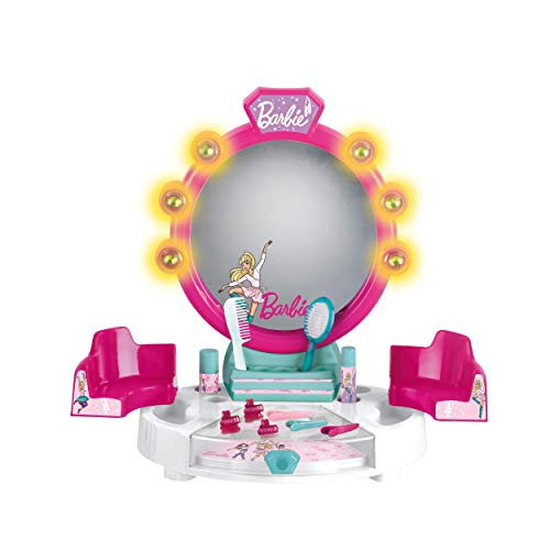 Theo Klein 5391 Soundfuntion Barbie Schönheitsstudio mit Licht-und Soundfunktion Tischversion mit Zubehör, Multicolor
