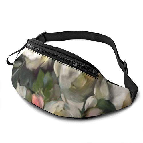 XCNGG Bolso de la cintura del ocio bolso que acampa bolso del montañismo Rose Background Fanny Packs for Women and Men Waist Bag Adjustable Belt for Outdoors Workout,Traveling,Casual Running,Hiking,Cy