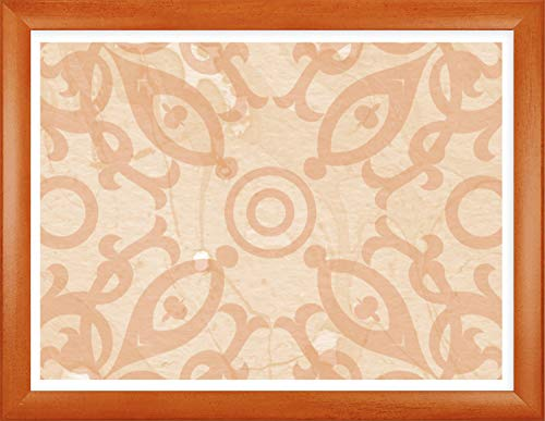 Homedecoration Bilderrahmen Colonia 48 x 68 cm mit leicht abgerundetem Profil in Orange gewischt mit Acrylglas klar 1mm für Bilder Fotos Kunstdrucke Poster Puzzle