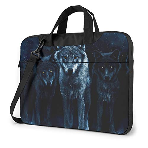 Wolf Cool Laptop Bag Shockproof Briefcase Tablet Carry Handbag for Business Trip Office 13 inch