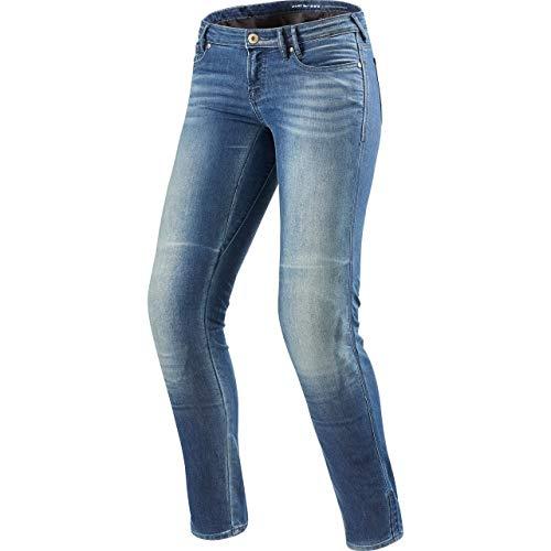 REV'IT! Motorrad Jeans Motorradhose Motorradjeans Westwood SF Damen Jeanshose hellblau Used 30/32, Chopper/Cruiser, Ganzjährig, Textil
