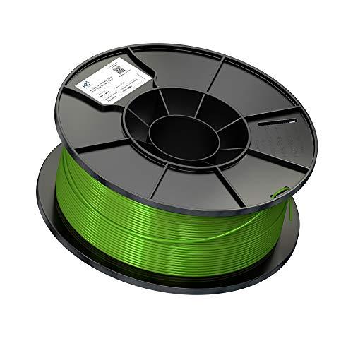 KabelDirekt KD Essentials - Filamento in PLA da 1.75 mm - Bobina da 1 kg per Stampanti 3D o Penna 3D, Avvolgimento Pulito, Imballaggio Sottovuoto - Verde