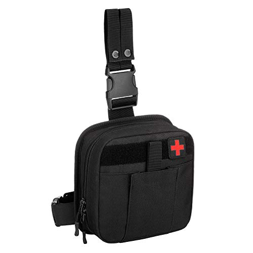 SINAIRSOFT Drop Leg Medical Pouch EMT Tool Bags,Tactical Molle Compact...