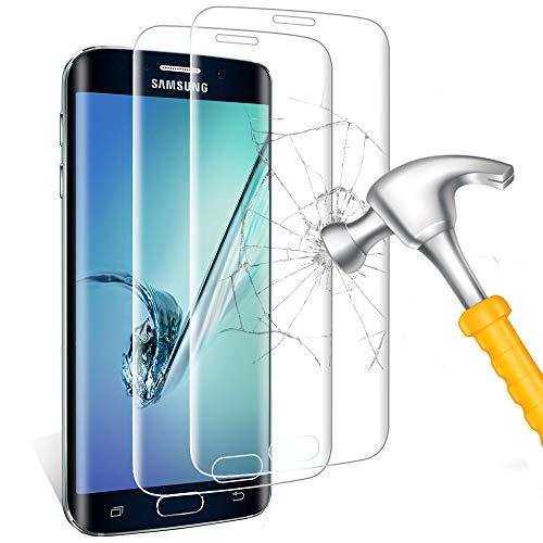 Carantee Panzerglas Schutzfolie für Samsung Galaxy S6 Edge, 9H Härte Panzerglasfolie [Anti-Bläschen] [Anti-Kratzen] [Anti-Fingerabdruck] Panzerglas Displayschutzfolie für S6 Edge [2 stück]