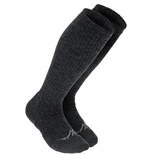 Support Stockings Premium Knee-High Merino Wool Compression Socks For Men and Women,Charcoal,Medium: Shoe Sizes 5-9