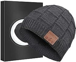 small Improved V4.2 Headphones Bluetooth Beanie Hat Wireless Headset Winter Music Speaker Hat Cap…