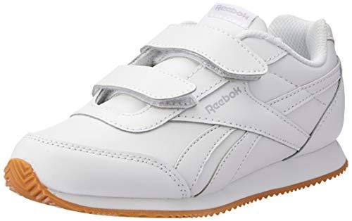 Reebok Royal Cljog 2 2V, Zapatillas de Deporte Niños Niño, Blanco (White/Cloud Grey/Gum 000), 31.5 EU