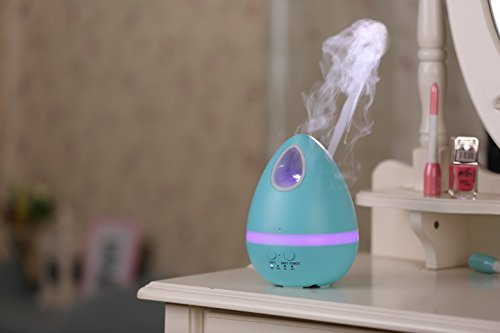B.E Store 200ML Egg Shape Design Aroma Essential Oil Humidifier 7 Color LED Lights for Baby Room Bedroom Hallways Yoga Spa Office (Blue)