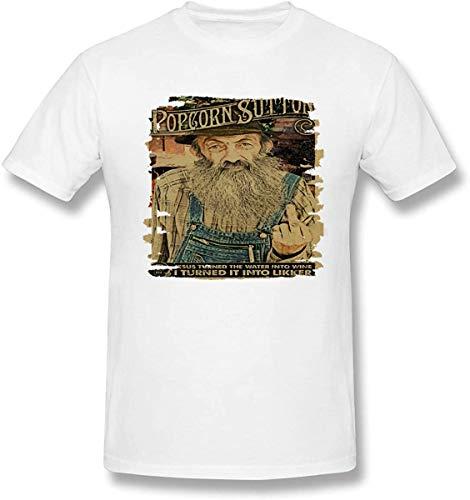 Men Cotton Shirts 3D Print of Popcorn Sutton Poster Round Neck Short Sleeve T-Shirts