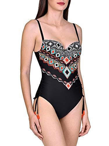 Lisca Damen Haiti Badeanzug mit Schalen 43424, Schwarz, 40B