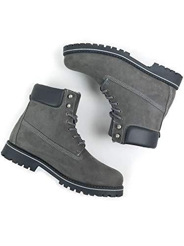 Will's Vegan Shoes Damen Isolierte Docking-Stiefel Grau Vegan Wildleder, - Graues, veganes Wildleder - Größe: 39 EU