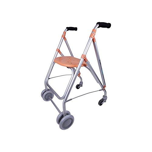 Forta fabricaciones - Andador de aluminio para ancianos ARA-PLUS - Salmón
