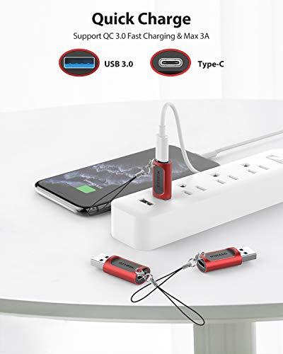 Nimaso Adapter USB auf USB C 3.1 [3 Stück],USB Typ C auf USB A Adapter 5Gbps für iPhone 11 Pro Max,MacBook Pro 2018,Chromebook Nexus 5X,Samsung Galaxy Note20 S20+ Ultra A90 5G S9,Google Pixel 4XL