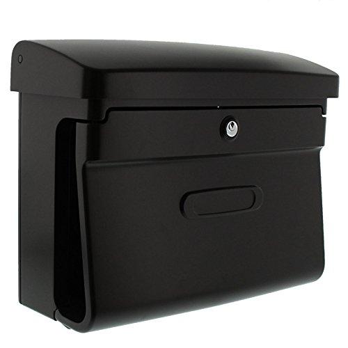 BURG-WÄCHTER Briefkasten mit Zeitungsfach, Matt-Optik, A4 Einwurf-Format, EU Norm EN 13724, Kunststoff, Bremen 885 BR, Braun