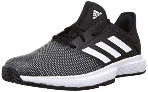 adidas Mens GameCourt Tennis Shoe, Core Black/Footwear White/Grey, 44 2/3 EU