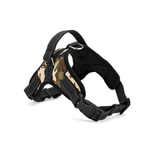 WINOMO Sella Stile Oxford Panno Cane Imbracatura di Sicurezza per Cane - Taglia M (Camuffare)