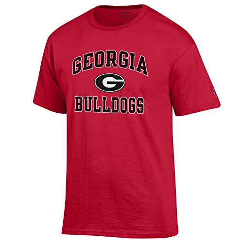 Champion NCAA Men's Shirt Short Sleeve Officially Licensed Team Color Tee, Georgia Bulldogs, X-Large