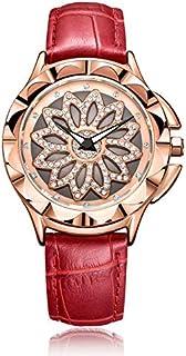 ساعة يد كوارتز للنساء من ميجر بعرض انالوج بسوار جلد، طراز - 2059L