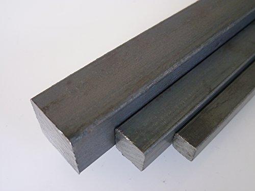 B&T Metall Stahl Vierkant 40 x 40 mm ST 37 gewalzt, schwarz - Länge ca. 25 cm (250 mm +0/-3 mm)