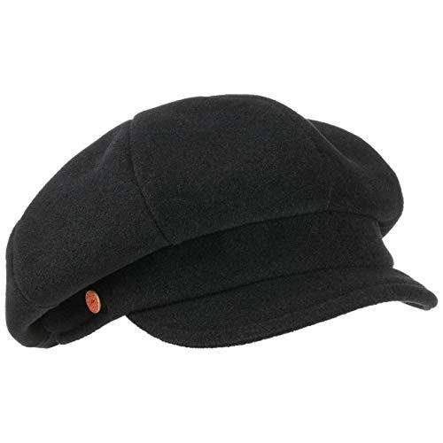 Mayser Damska zimowa czapka balonowa czapka damska czapka balonowa czapka zimowa z daszkiem, czarny (8001), 57/58 cm