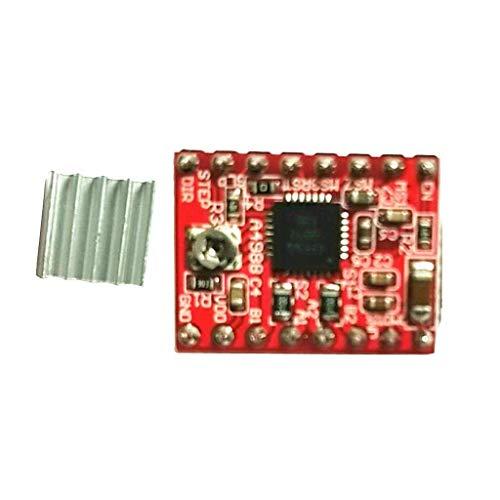 GzxLaY Módulo conductor de motor paso a paso para impresora 3D A4988 con disipador de calor 3D Reprap CNC