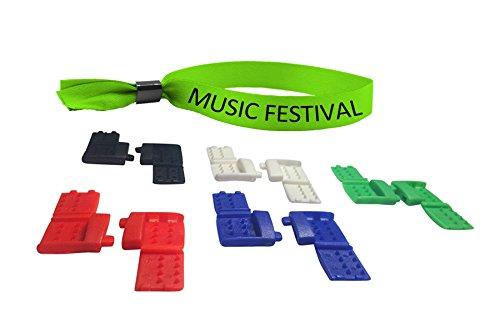 Festival Clips - Buckles for Wearing Festival Wristbands Again! (Rainbow, 5)