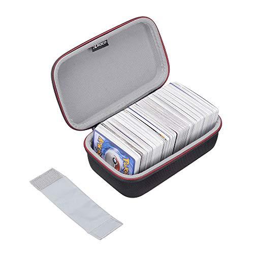 ポケモントレーディングカード対応 ケース RLSOCOカードゲーム収納ケース Pokemon Trading Cards、デュエル・マスターズ、遊戯王OCG、ウノ UNO(ウノ アタック)、ヴァイスシュヴァルツ、ドラゴンボールカードゲーム等対応 カードを4