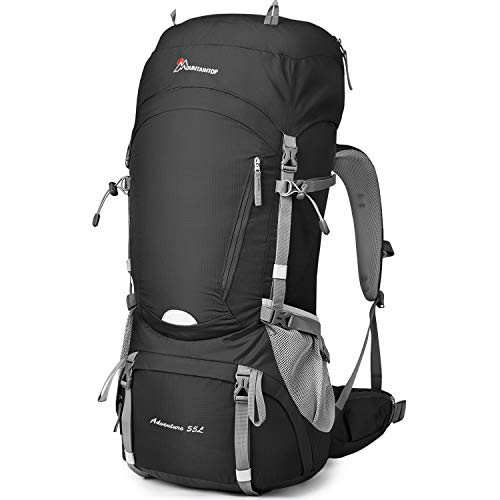 MOUNTAINTOP 55L/65L Internal Frame Backpack Hiking Backpack with Rain Cover
