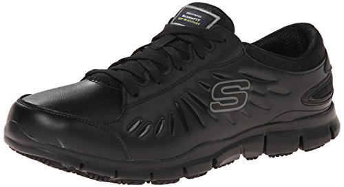 Skechers for Work Women's Eldred Work Shoe, Black, 7.5 M US