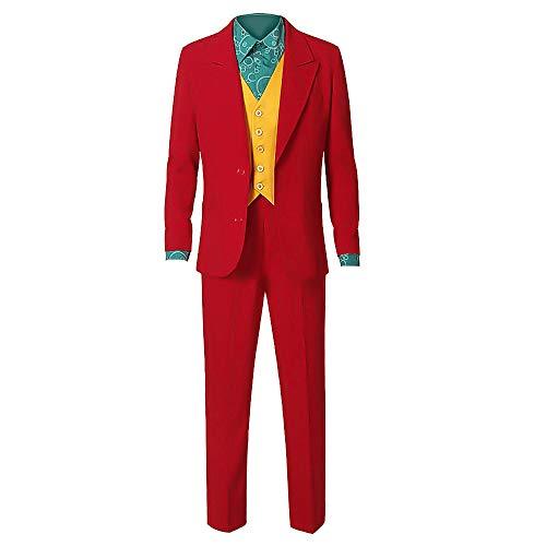 Adulto Bufón Cosplay Joker Disfraces Novedad Cosplay Camisas Accesorios Verde Blazers Pantalones Traje Set para Halloween, Carnaval, Partido, Actuación
