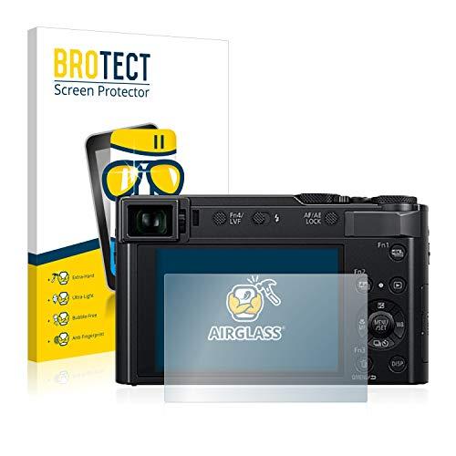 BROTECT Panzerglas Schutzfolie kompatibel mit Panasonic Lumix DC-TZ202 - AirGlass, 9H Härte, Anti-Fingerprint, HD-Clear