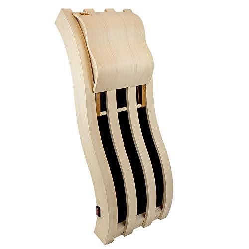 Sawo wellenförmige Rückenlehne mit Infrarot-Panel 505-IR-A aus Espenholz