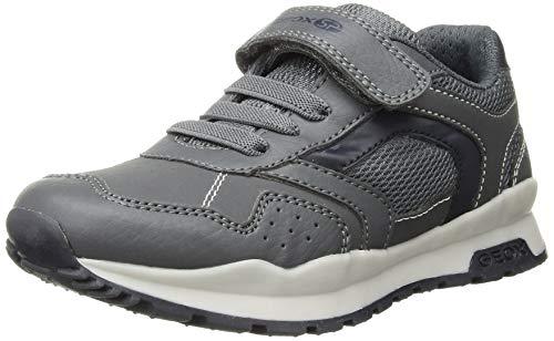 Geox Coridan Boy 3 Hook-and-Loop Sneaker, Dark Grey/Navy, 12 Little Kid
