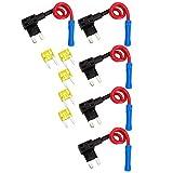 graceme 5coche ATO ATC Add A Circuit de derivación Mini Fusibles Portafusibles con 520A Auto fusibles planos Juego de fusibles