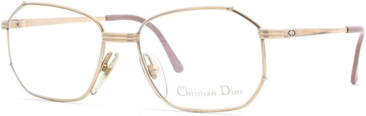 Christian Dior 2695 45 Brown and gold Authentic Women Vintage Eyeglasses Frame