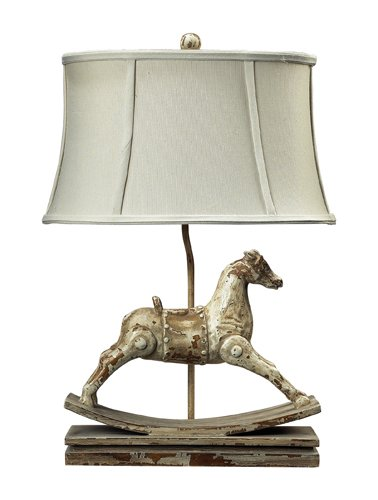 "Dimond Lighting 93-9161 Carnavale Rocking Horse Table Lamp, 10"" x 16"" x 24"""