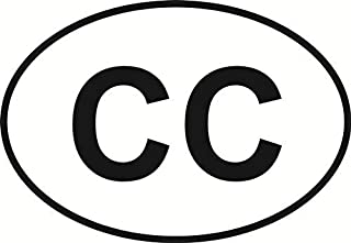 Vinyl Overlays 720 Magnet Cape Cod (CC) Euro Oval Bumper Magnetic Sticker 5