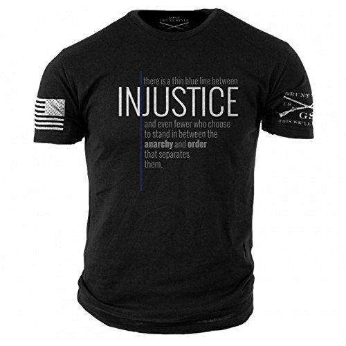 Grunt Style Thin Blue Line Men's T-Shirt, Size M