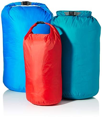 Tatonka Unisex– Erwachsene Dry Bag Packbeutel, rot/türkis/blau (per Set), 10 l / 18 l / 30 l