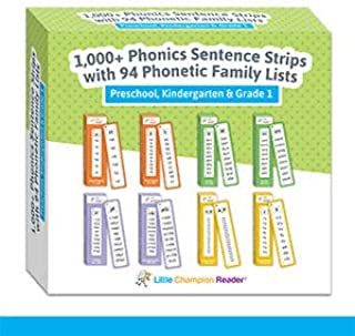 Phonics 1,128 Phonics Sentence Flash Cards - Teaches Reading from 94 Easy Phonics Books - Short and Long Vowels, Blends, D...