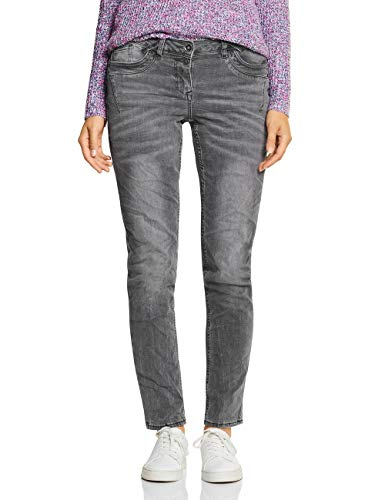 Cecil Damen Scarlett Jeans, Grey Used Wash 10189, 29W / 32L