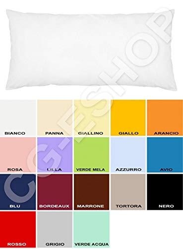 Confezioni.Giuliana Federa per Cuscino da Una Piazza e Mezza - 1 1/12 Mis. 110x55 Colori Tinta Unita a Scelta (Arancio)