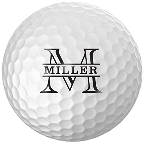 Personalized Name & Initial Golf Balls - Customize The Name and Initial (12 Balls)