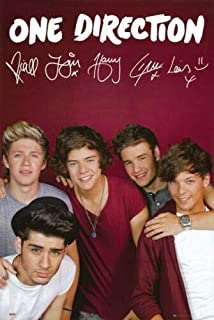 One Direction Poster Print Maroon Harry Styles Zayn Malik Niall Horan Louis Liam 24
