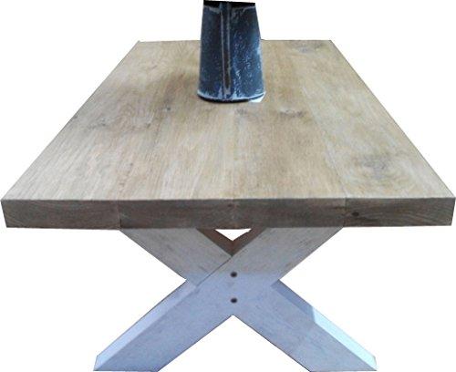 Little Chelsea Table, Mesa DE Centro DE Madera Maciza Y Patas DE Madera DECAPADA