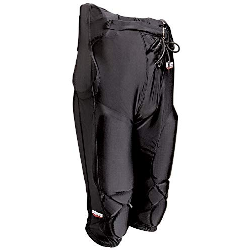 Schutt Sports DNA All-in-One Varsity Football Pants Integrated Pads, Large, Black