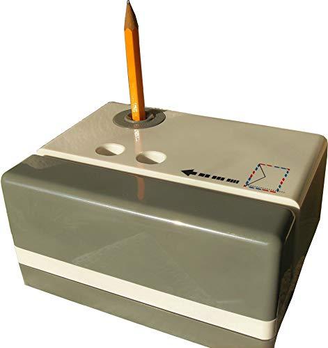 artline EVIT Bürogerät W1000 Brieföffner und Bleistift Spitzer elektrisch grau und weiß kombiniert