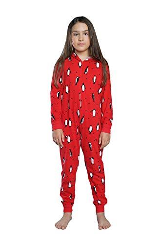 Italian Fashion Pigiama Intero Bambina Ragazza Ragazze Invernale Cotone Pinguini