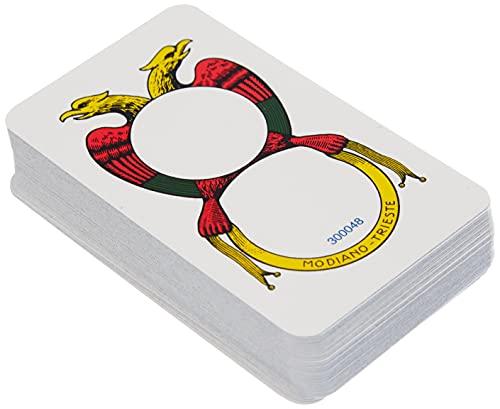 Modiano- Carte da Gioco del 150° Anniversario, Colore Napoletane Marroni, 300082